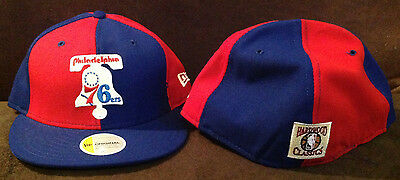 0f0f7c02a8a Philadelphia 76ers New Era 59FIFTY NBA Fitted Hat Retro Bell Logo Red Blue  7 5