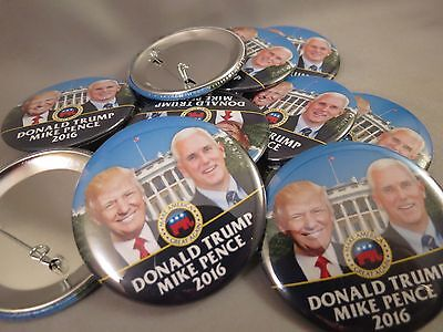 WHOLESALE LOT OF 12 TRUMP PENCE WHITE HOUSE  BUTTONS Elephant President 2016 USA