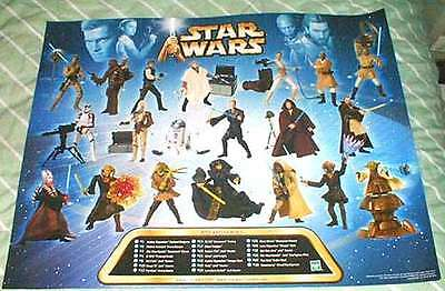 Star Wars Episode 2 AOTC Hasbro Action Figure Poster