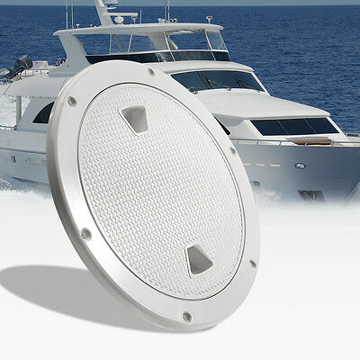 8'' ABS Plastic Round Deck Plate Inspection Hatch Marine Screw Out Boat Access