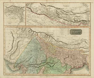 """British India, northern part"" w/ Nepal & Cabul. Afghanistan. THOMSON 1817 map"
