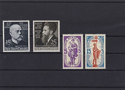Germany Danzig 1939 Scientist 1937 Madonna Mounted Mint Stamps Ref R513