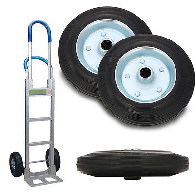2 X Replacement wheel and tyre for a 200mm trolley wheel Caravan jockey wheel