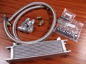 Renault 5 Gt Turbo New Mocal Oil Cooler Kit 10 Row Stainless Hoses Thermostat