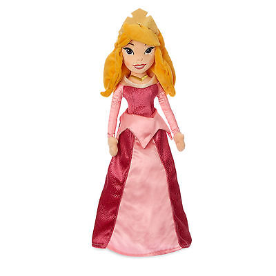 Disney Store Princess Aurora Sleeping Beauty Embroidered Plush Doll Toy 20 1/2""