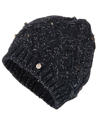 New Womens Superdry Forever More Beanie Navy