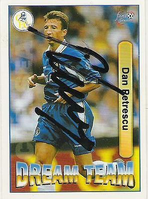 A Futura Fans Selection card signed by Dan Petrescu of Chelsea.