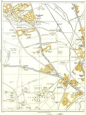 BENTLEY.Woodlands,Aldwick le Street,Cusworth,Scawthorpe,Toll Bar 1935 old map