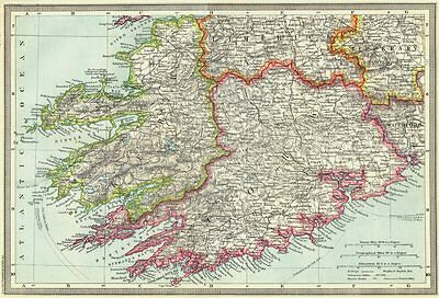 IRELAND. Killarney and South-West Ireland 1907 old antique map plan chart