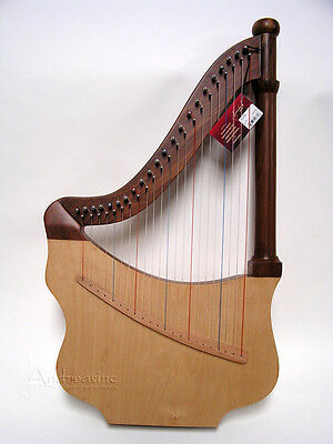 NEW UNIQUE KING DAVID'S LUTE HARP w/ CASE & TUNING TOOL - MINOR BLEMISHED