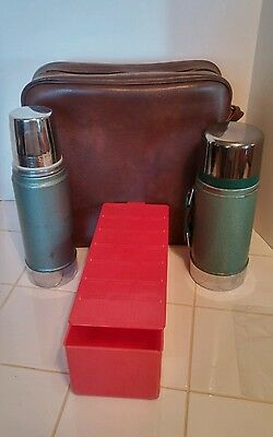 Vintage ALADDIN STANLEY Steel Thermos & Lunchbox Work Lunch PicNic Set