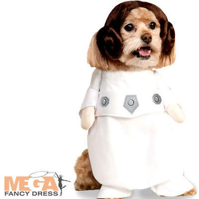 Princess Leia Fancy Dress Star Wars Rebel Film Movie Scifi Puppy Pet Costume New