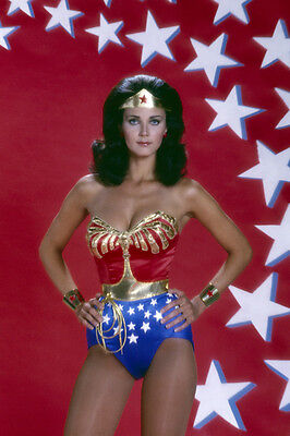 Wonder Woman Lynda Carter busty pose in costume super hero 24x36 Poster