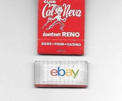 Club Cal-Neva Casino Reno 1960's Matchbook Unused-Unstricken