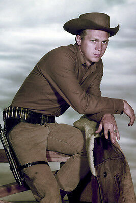 Wanted: Dead or Alive Steve McQueen classic tv western on fence 24x36 Poster