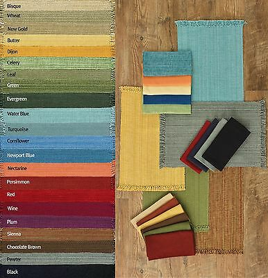 Casual Classics Solid Color Placemats and Napkins, Choice of 22 Colors, 4 Each