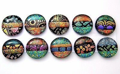 multi color Lot 10 pcs pendant DICHROIC FUSED GLASS (J22) CAB scrapbooks MOSAIC