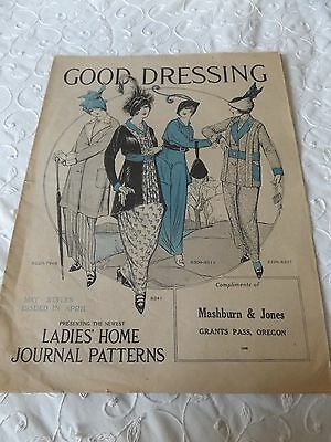 """Antique May 1914 Home Pattern Co. """"good Dressing"""" ~ Pattern Book"""