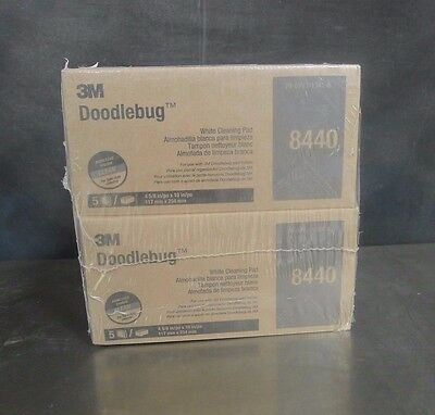 M 8440 Doodlebug White Cleaning Pad 4 Boxes of 5 NEW