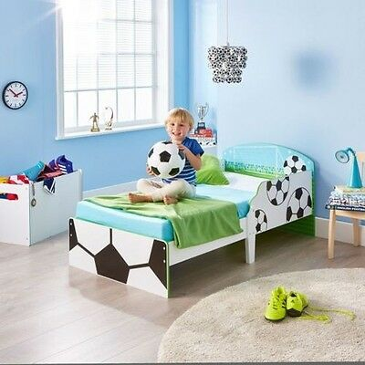 Football Toddler Bed With Protective Side Panels & 3 Mattress Options