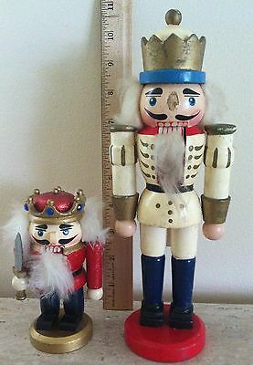 "Vintage Wooden Nutcracker Soldier W. Germany HIRSCHMANN 10"" Tall with A GIFT"