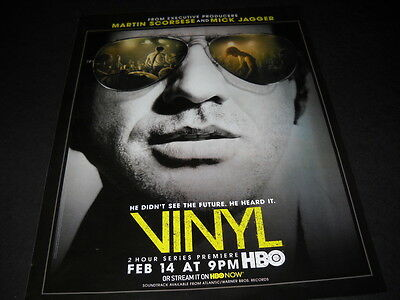 VINYL premieres on HBO Scorsese and MICK JAGGER 2016 Promo Poster Ad