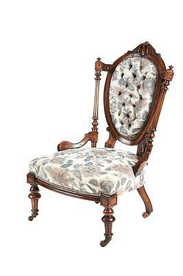 19Th Century Victorian Walnut Ladies Chair