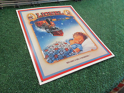 """Lionel """"not Just A Toy. A Tradition."""" Lithographic Tin Sign"""