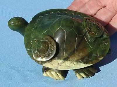 "Beautiful Vintage Stone Turtle With 2 Babies - 5 1/2"" long - in EXC condition"