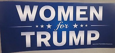 WHOLESALE LOT OF 20 WOMEN FOR DONALD TRUMP STICKERS President I'm a girl woman $
