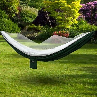 Outdoor Garden Camping Patio Beach Single Travel Canvas Hammock Swing Chair Bed