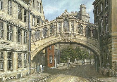 Hertford College Oxford University England, Bridge - United Kingdom Art Postcard