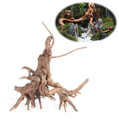Natural Wood Trunk Driftwood Tree Aquarium Fish Tank Plant Stump Ornament Decor