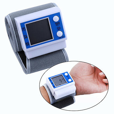 Useful Smart Automatic LCD Wrist Blood Pressure Monitor Heart Rate Pulse Meter