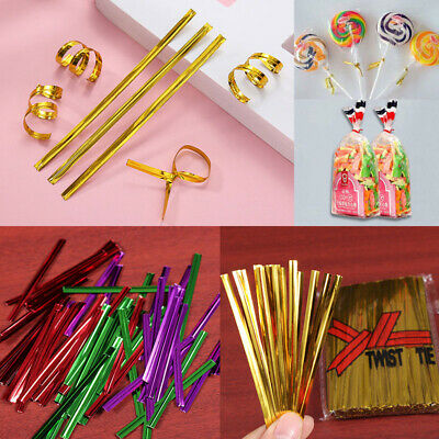 Wholesale Chic 800 Pcs Metallic Twist Ties for Candy Lollipop Cake Pop Bag Party