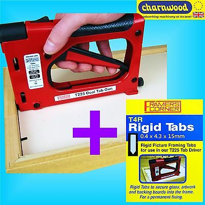 Charnwood T225 Hand Operated Tab Driver Picture Framing Gun With 2500 Rigid Tabs