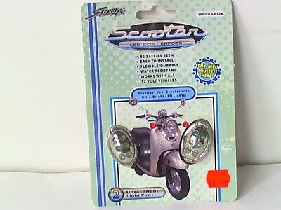 Street FX White Electro Pods ElectroPods ScooterPods Accent Lighting Chrome Oval