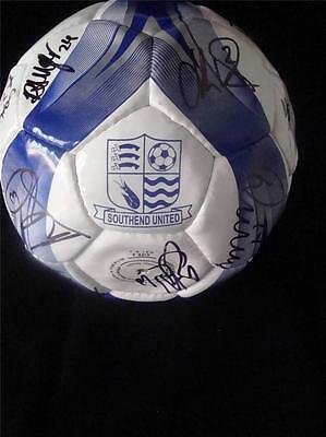 Southend United Signed Football.