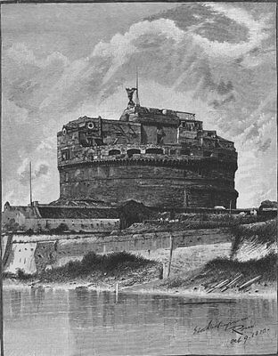 ROME. The Castle of St Angelo 1882 old antique vintage print picture