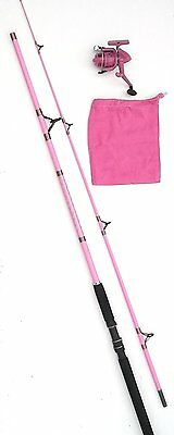 Ladies Pink Rod and Reel Combo. Ideal For Carp and Sea Fishing