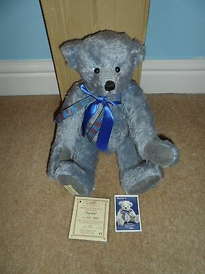 Dean`s Rag Book Blue Mohair Teddy Bear (Seymour) Number 23 Of 500 Limited Boxed