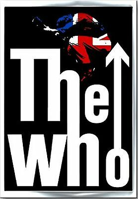 The Who Leap union jack band Logo new Official Metal lapel pin badge One Size