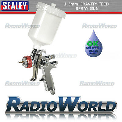 Sealey Professional HVLP Gravity Feed Top Coat Paint Spray Gun 1.3mm - HVLP746