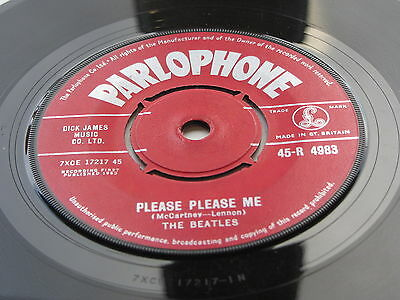 The Beatles 1963 Uk 45 Please Please Me  Red Label  Parlophone  Instruments Sl