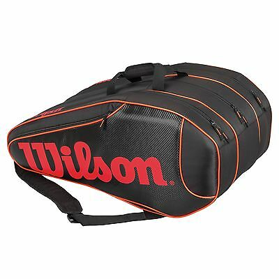 Wilson Burn Team 12 Racket Tennis Squash Badminton Racquet Bag
