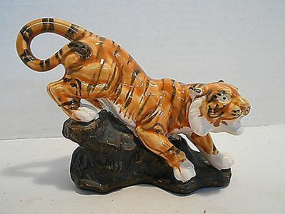 Bengal Tiger Collectible - Ceramic Wild Cat Animal Figurine Statue Hand Painted
