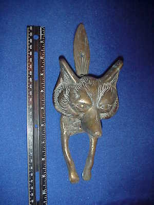 Antique Brass Fox Door Knocker