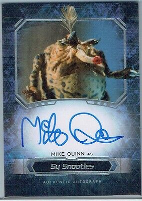 2016 Star Wars Masterwork Autographs Mike Quinn As Sy Snootles