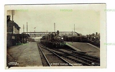 Postcard St Deny's Railway Station Southampton Hants Willsteed Real Photo C.1910