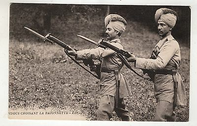 military postcard india soldiers indian